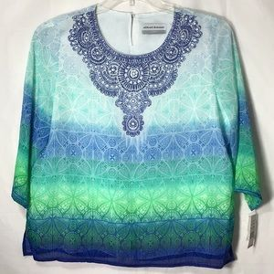a6e17e577 Alfred Dunner Tops - Alfred Dunner Catalina Island Beaded Blouse NWT